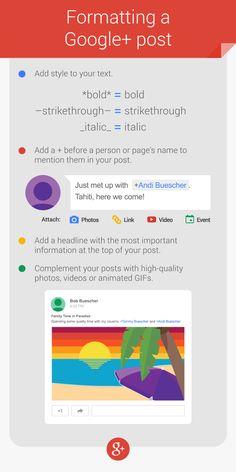 Comment publier un post sur #Google+ (presque) parfait ? #Googleplus #ReseauxSociaux