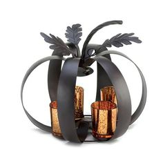 Add Fall Seasonal Home Accent Decor to your next festive gathering.  Perfect centerpiece throughout the season.