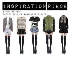Ways to wear suspender tights Indie Fashion, Urban Fashion, Womens Fashion, Female Fashion, Alternative Outfits, Spring Summer Fashion, Autumn Fashion, Suspender Tights, Indie Mode