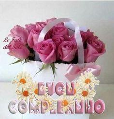 Frasi di Auguri per Buon Compleanno con i fiori 10 Birthday Greetings, Birthday Wishes, Happy Birthday, Birthday Cake, Friendship Flowers, Happy B Day, Flower Power, Haiku, Serendipity