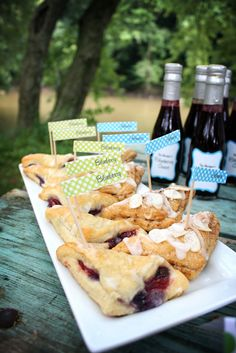 Blue berry and almond turnovers. These went fast!! The Everyday Posh: Posh Picnic Blueberry Picking Party #poshpicnics #nationalpicnicweek