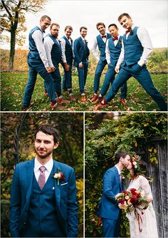royal blue grooms men suits