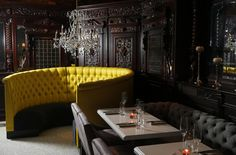 Locke-Ober opened in the 19th century before signing off in 2012....The dining room at Yvonne's (former Locke-Ober).