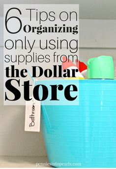 No matter which space you are looking to organize, these Dollar Store Organizing Tips will help you get the job done in less than 30 minutes! Organization Quotes, Home Organization, Organizing Tips, Household Organization, Cleaning Tips, Dollar Store Hacks, Dollar Store Crafts, Saving Ideas, Money Saving Tips