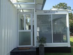 Hybrid House made from 3 shipping containers in Colombo, Sri Lanka  www.hybridhomes.lk
