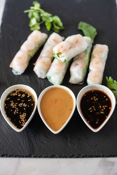 These Vietnamese Summer Shrimp Vegetable Rolls are a twist on the traditional spring roll minus the pork and the addition of a few more fresh veggies to bring the spring roll into summer. #vietnamesespringroll, #shrimproll Shrimp Spring Rolls, Vegetable Spring Rolls, Shrimp Rolls, Pork Spring Rolls, Vietnamese Summer Rolls, Vietnamese Salad Rolls, Vietnamese Food, Vietnamese Recipes, Asian Recipes