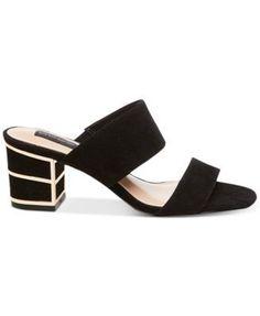 Steven By Steve Madden Women's Siggy Block-Heel Sandals - Tan/Beige 5.5M