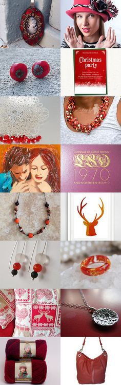 ***Just Red*** by Vilma Matuleviciene on Etsy--Pinned with TreasuryPin.com
