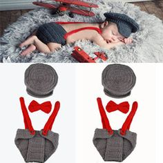 Newborn Baby Knitted PhotoProps 1set