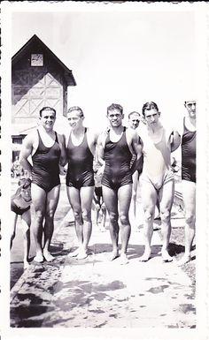 vintage  vintage men  history swimmers