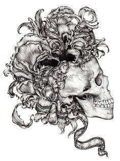 Memento Mori by Lucy Hardie - Skullspiration.com - skull designs, art, fashion and more