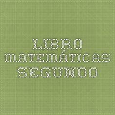 Libro matemáticas segundo