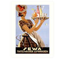 Sewa German Vintage Poster Restored Art Print
