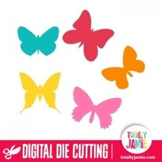 This assorted butterflies set is ideal for scrapbooking, card making, or to add a special touch to gift wrapping.Digital die cutting files are designed specifically with cutting machines in mind. Use them with programs such as your Silhouette, Cricut (SCAL/MTC), Pazzles, Klick-n-Kut, Wishblade or any cutting machine that can use the following file formats: SVG, PDF, and DXF.