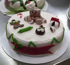 This Gingerbread man has tired himself out from lots of Christmas baking #ChristmasCake