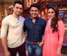 Kapil sharma with imran khan and kareena kapoor,Fun with Kapil Sharma India