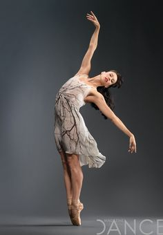 Georgina Pazcoguin of NYCB in a dress designed by Reid Bartelme and Harriet Jung. Photo by Matthew Karas.