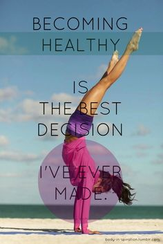 best decision health picture quote