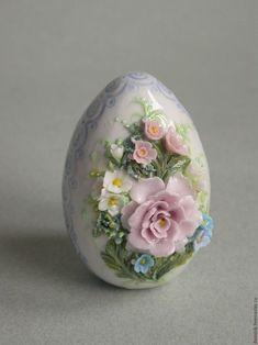 """Подарки на Пасху ручной работы. Ярмарка Мастеров - ручная работа. Купить Пасхальное яйцо """"Нежность"""". Handmade. Голубой, подарок, миниатюра"""