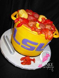 LSU crawfish boil cake