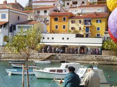 Beautiful small place on the west coast of Istria, Rabac! And best ice cream is found at Pingo! Best Ice Cream, Small Places, West Coast, Trips, Mansions, House Styles, Beautiful, Viajes, Villas