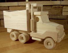 Juguete de madera carro Pick Up por PapaDonsWoodenToys en Etsy