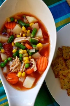 Springtime Vegetable Soup - The perfect healthy meal.