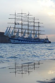 Star Clipper leaving Venice, Italy for a Mediterranean cruise