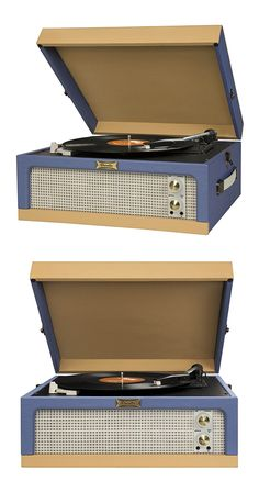 Spin your favorite tunes—old and new—on the Sound Machine Portable Record Player, an adaptation of the classic turntable ...  Find the Sound Machine Portable Record Player, as seen in the Mid-Century Habits We Dare You To Break Collection at http://dotandbo.com/collections/mid-century-habits-we-dare-you-to-break?utm_source=pinterest