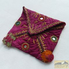 Afghanistan Vintage Embroidered Pashtun Wallet by AfghanTribalArts