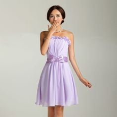 Light Purple Bridesmaid Dress,Pale Lilac Short Bridesmaid Dress ...