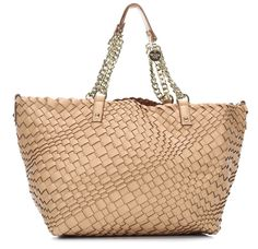 wardow.com - Patrizia Pepe, Color Weaving Shopper beige 42 cm