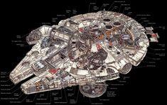 『スター・ウォーズ』の建築物、乗り物の内部構造が丸見えなイラスト集