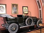 The 1911 Gräf & Stift Bois de Boulogne phaeton automobile in which Archduke Ferdinand and his wife were assassinated. It is now displayed in the Museum of Military History in Vienna