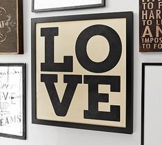 Love Framed Print #potterybarn