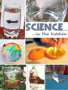 Science in the Kitchen - Wonderful, kid-friendly ideas were shared! #science #kids #learning #teaching #activities
