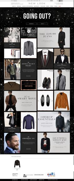 christmas party landing page for men @newlook