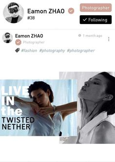 This is Eamon Zhao, a fashion photographer based in Shanghai.