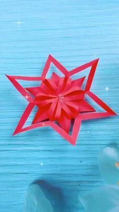 Paper Flowers Craft, Paper Crafts Origami, Diy Crafts For Gifts, Paper Crafts For Kids, Diy Arts And Crafts, Holiday Crafts, Instruções Origami, Art Deco, Stud Earrings