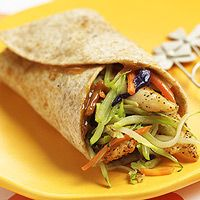 Thai Chicken-Broccoli Wraps {clever idea to use pre-made broccoli-slaw mix - why can I never remember these things when I'm trying to throw lunches together?!}