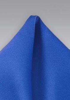 Einstecktuch in kräftigem Blau