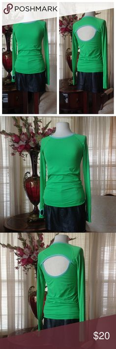 VSX Sport green sweater with thumb holes Never worn. No tag attached. No defects.           .        c Victoria's Secret Sweaters