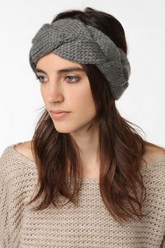 Urban Outfitters. Braided Cable Knit Ear Warmer. Love.