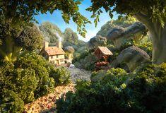 Stilton-Cottage-carl-warner Landscapes made from food