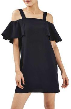 Topshop Cold Shoulder Shift Dress available at #Nordstrom