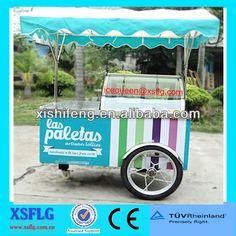italian ice cream cart/gelato freezer cart/ice cream push trolley $4260~$6990
