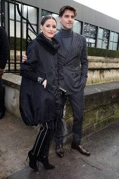 Olivia Palermo and Johannes Huebl attend the Valentino show as part of the Paris Fashion Week Womenswear Fall/Winter 2018/2019 on March 4 2018 in...