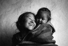 """Muktinath, Nepal - Along the Annapurna circuit, Nepal. Update: I won first place with this photo in a National Geographic Traveller Photo Contest: """"The World in Focus"""" . I love how this portrait shows a mother's love. Foto Portrait, Portrait Photography, Denis Zilber, People Around The World, Around The Worlds, Mother And Child, Mothers Love, Baby Wearing, Belle Photo"""