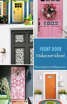 What a Difference a Door Makes! - Front Door Makeover Ideas!