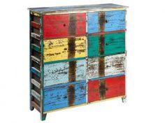 Mueble vintage con 8 cajones